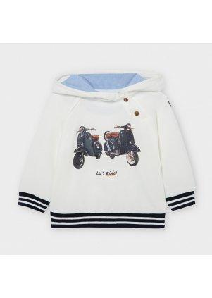 Mikina s kapucí, Cream
