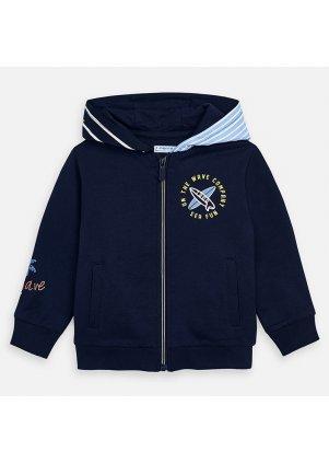 Mikina s kapucí na zip, Navy