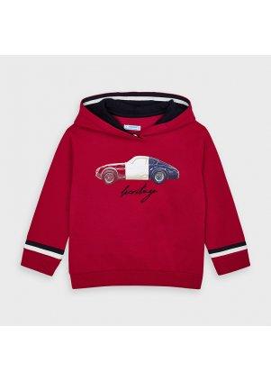 Mikinka s kapucí a motivem auta, Cherry