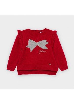 Pletený svetřík zdobený volánkem, Carmine Re