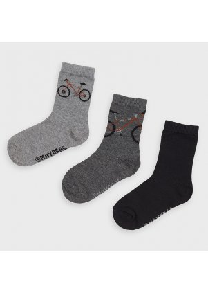 Ponožky set 3 kusy (Barva Coal, Velikost 10)