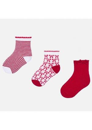 Ponožky set 3 páry, Strawberry