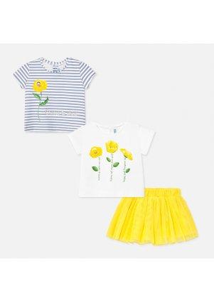 Sada dvou triček s tylovou sukýnkou, Yellow