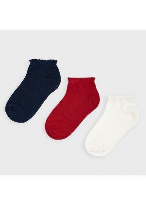 Set ponožek 3 kusy, Red