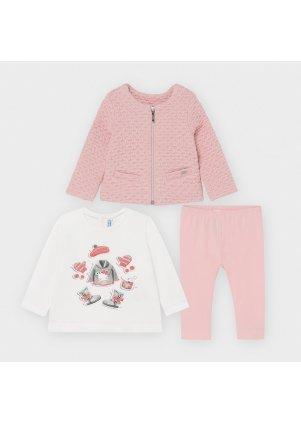 Setík mikinka, tričko a legínky, Rose