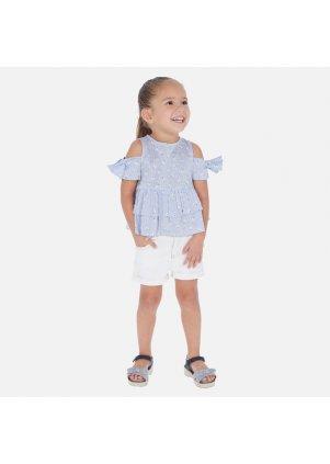 Šortky s obráceným lemem na nohavici (Barva Strawberry, Velikost 9)