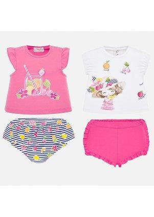 Tričko a šortky set 4 kusy, Camellia