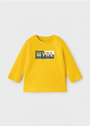ECOFRIENDS long sleeve basic t-shirt for baby boy, Gold