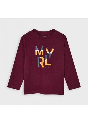 Tričko s dlouhým rukávem, Burgundy