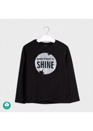 Tričko s flitrovým nápisem, Black
