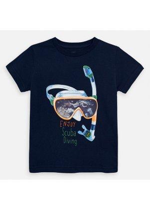 Tričko s motivem potapěčských brýlí, blue
