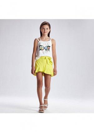 Viskózová kalhotová sukně, Lemon