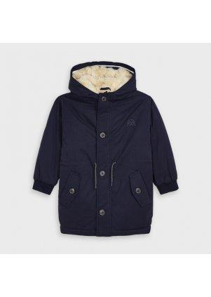 Zimní bunda s kožíškem, Navy