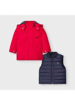 Zimní kabátek s odepínací vestou, Red