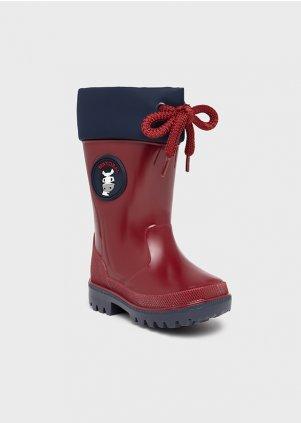 Boty do deště se zvířecími detaily, Red