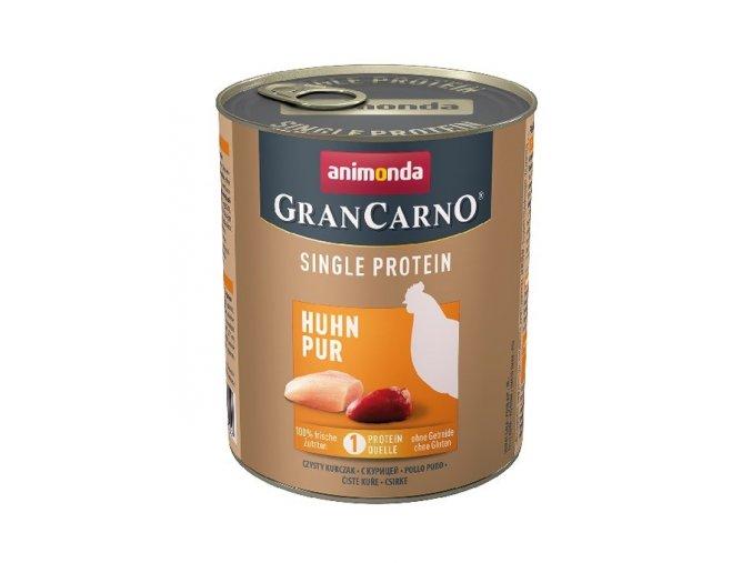 grancarno single protein 800g ciste kureci konzerva pro psy