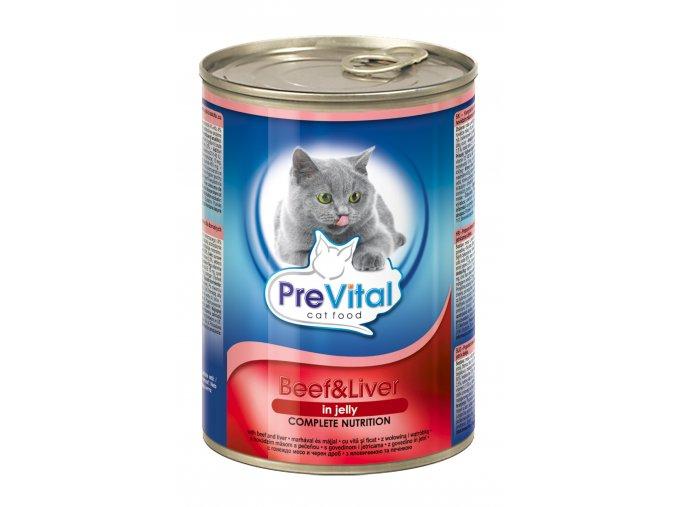 konzerva pro kočky v želé, Prevital