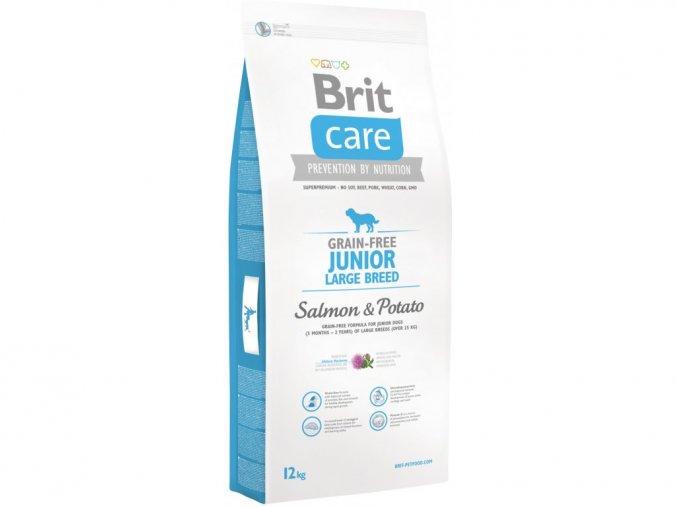 brit care grain free junior large breed salmon potato 12kg