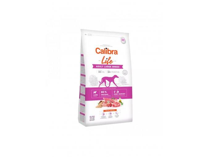 calibra dog life adult large breed lamb r