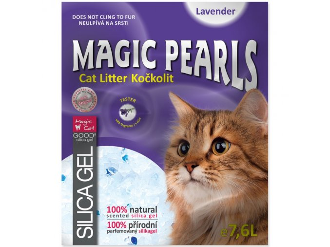 Magic Pearl s Lavender s vůní levandule 16 l silikonové stelivo