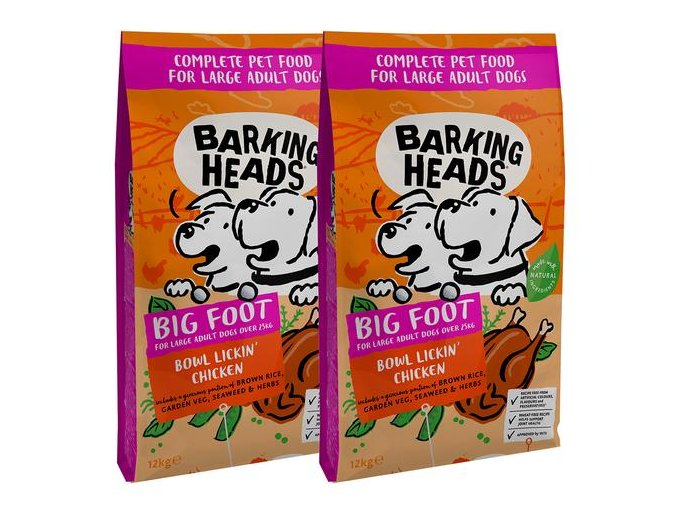 Barking Heads Bowl Lickin´Chicken Large Breed 2x12 kg