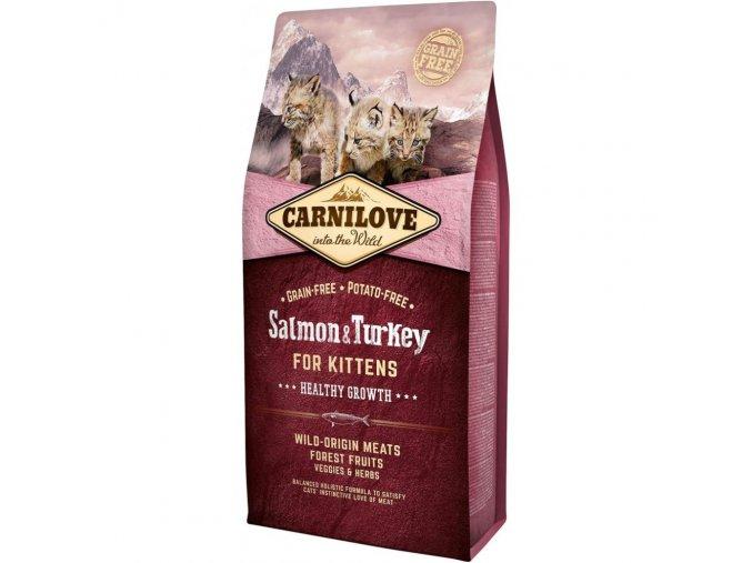 Carnilove Salmon & Turkey for Kittens Healthy Growth 6 kg pro koťata