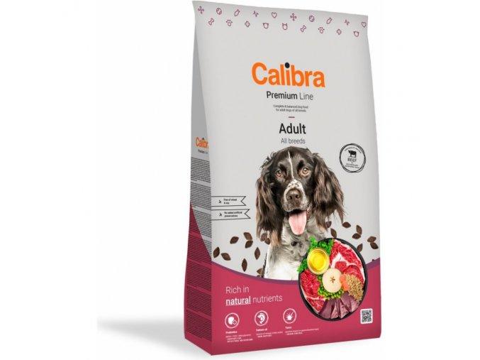 Calibra Dog Premium Line Adult Beef 12 kg NEW hovězí pro dospělé psy