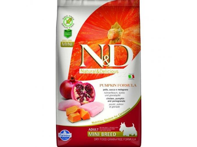 N&D GF Pumpkin DOG Adult Mini Chicken & Pomegranat 7 kg pro dospělé malé plemeno