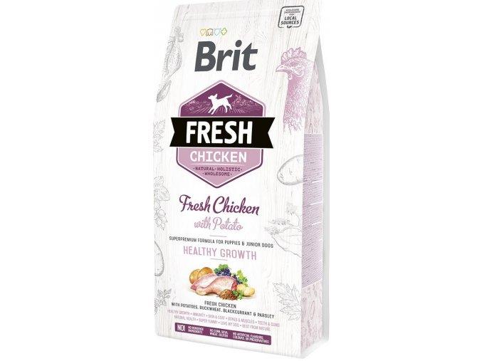 granule Brit Fresh Chicken & Potato Puppy Healthy Growth