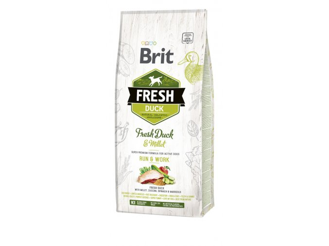 granule Brit Fresh Duck with Millet Active Run & Work