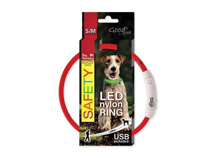 Dog Fantasy obojek světelný 65 cm