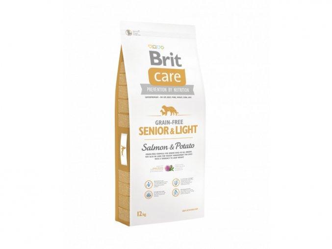 brit care grain free senior light salmon potato 12kg