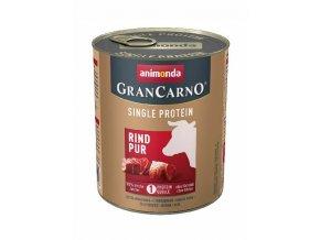 grancarno single protein 800g ciste hovezi konzerva pro psy