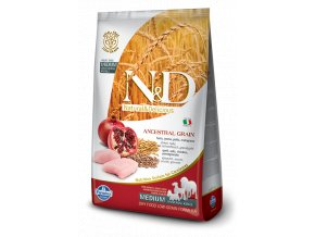 nd low grain dog adult medium chicken pomegranate