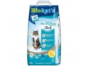Biokat's Natural Cotton Blossom 10 kg hrudkující stelivo pro kočky