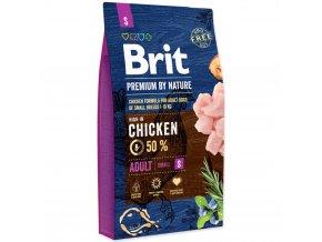 Brit Premium by Nature Adult S 8 kg pro dospělé psy malých plemen