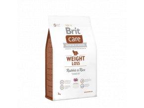 Brit Care Weight Loss Rabbit & Rice 3 kg granule pro psy s nadváhou