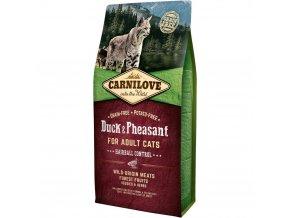Carnilove Duck & Pheasant for Adult Cats Hairball Control 6 kg na chomáčky chlupů