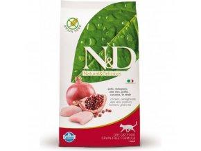 N&D GF Prime Cat Adult Chicken & Pomegranate 10 kg grain free, bezobilné