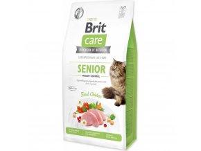 Brit Care Cat GF Senior Weight Control 7 kg pro senior a pro kočky s nadváhou
