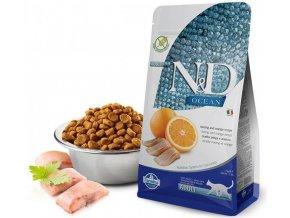 Farmina N&D OCEAN CAT Adult Herring & Orange 10 kg