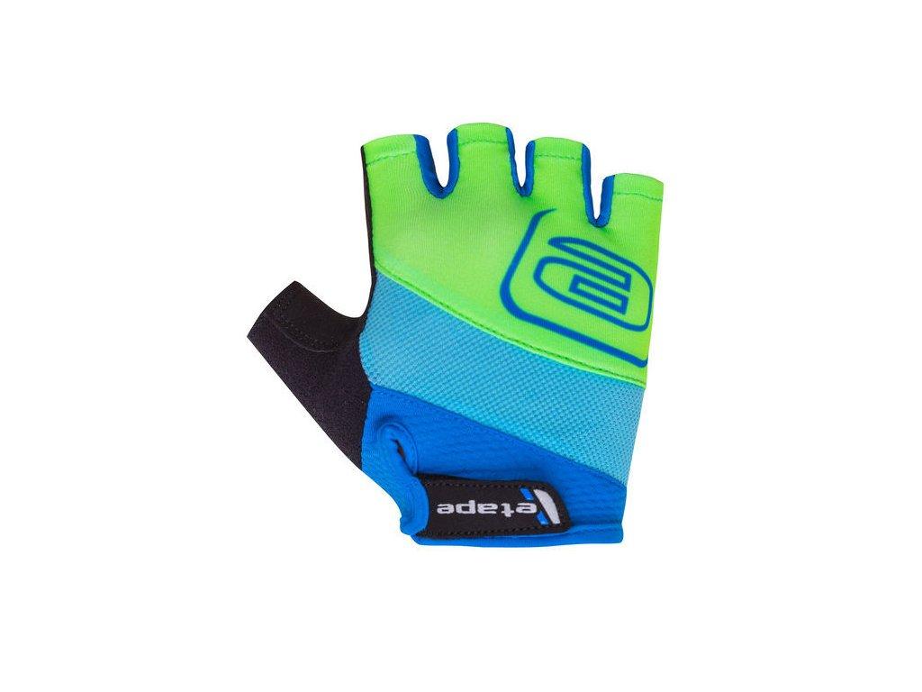 Etape Simple dětské rukavice modrá/zelená