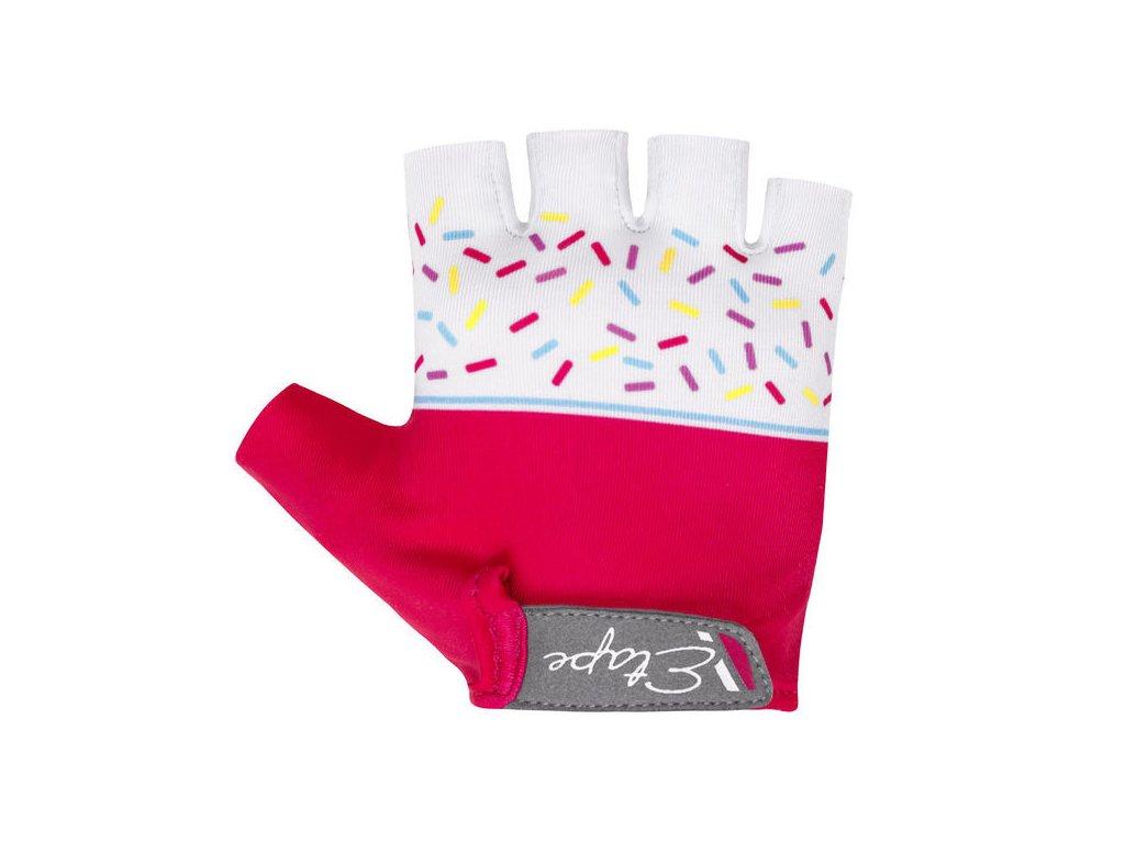 Etape Tiny dětské rukavice růžová/bílá