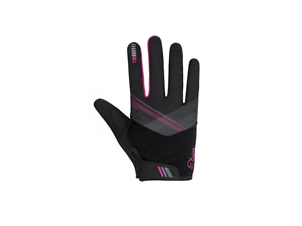 rukavice Etape Paola+  dl.prsty černé/růžové