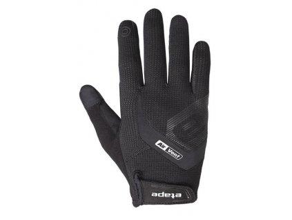 rukavice Etape Fox+ dl.prsty černé