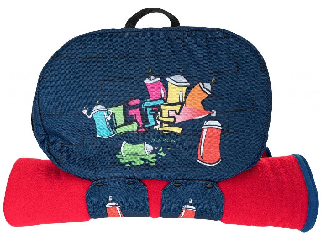ruksak modrý obal