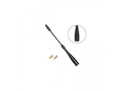 Antény prút čierny 16 cm závit 5-6 mm