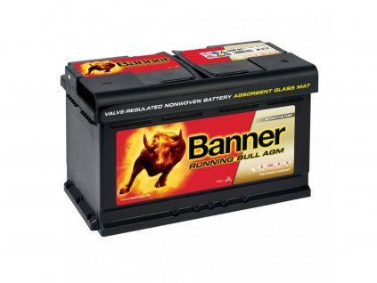 Banner RUNNING BULL (AGM) 12V 580 01