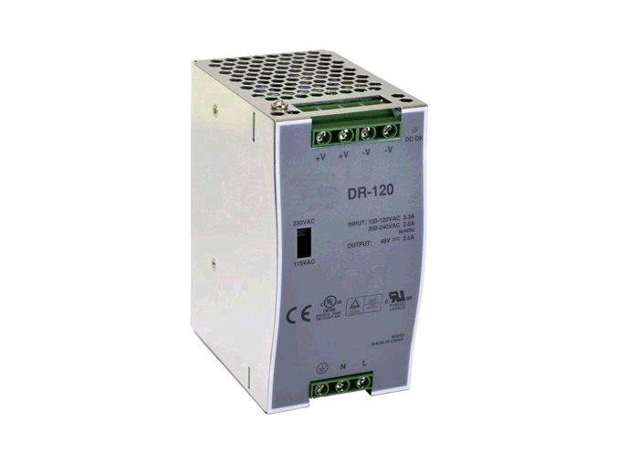 Průmyslový zdroj CARSPA DR-120-12 na DIN lištu 120W, 12V