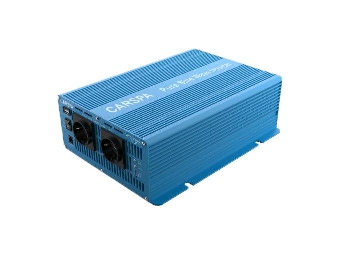 Měnič napětí Carspa SK3000 UR-242 24V/230V+USB 3000W, čistá sinus, dálkové ovládání